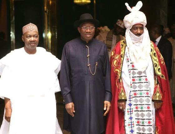 Photos: Emir of Kano, Lamido Sanusi visits Pres. Jonathan again