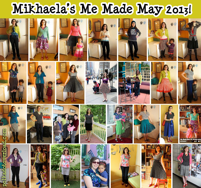 Mikhaela's Me Made May 2013: Polka Dot Overload blog