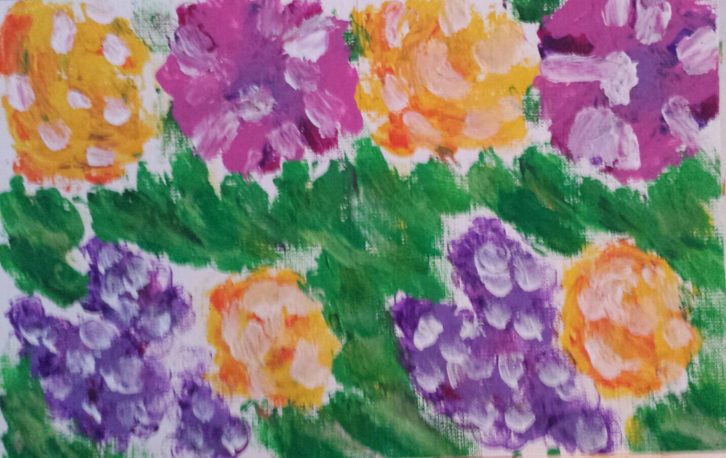 Sprinkle On Glitter: Finger Painted Flower Bouquets