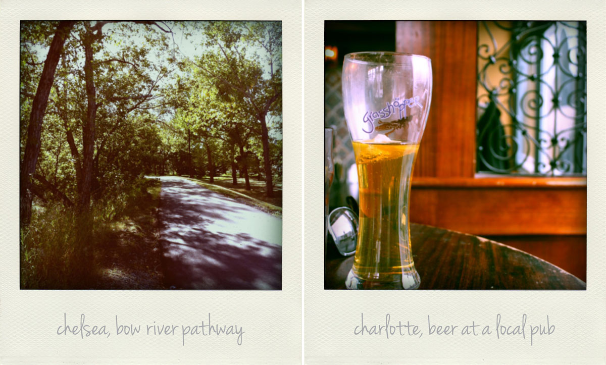 What Chelsea Watson and Charlotte Senini love about calgary, bow river pathway and beers at the pub