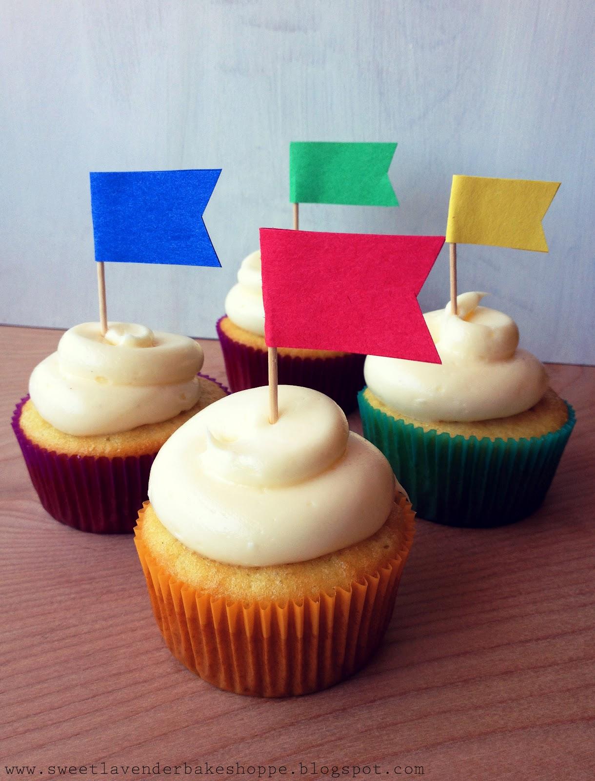 Sweet Lavender Bake Shoppe: diy flag cupcake toppers