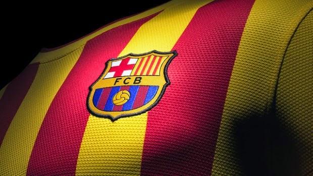 Barcelona in 'senyera' kit at Camp Nou vs Athletic Club Bilbao