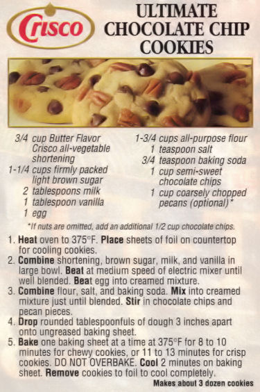 Crisco butter cookies recipe