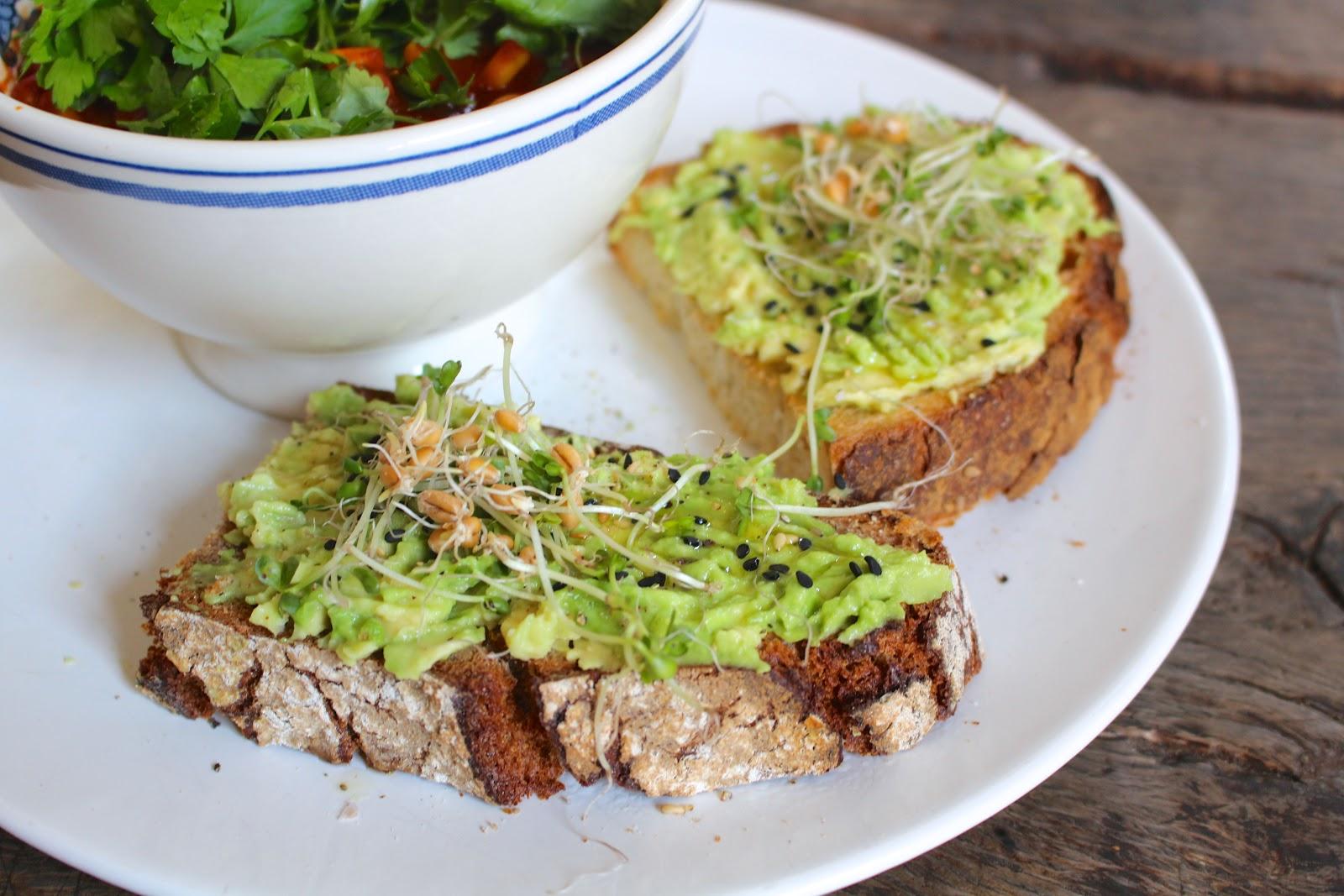 Vegan avocado toast
