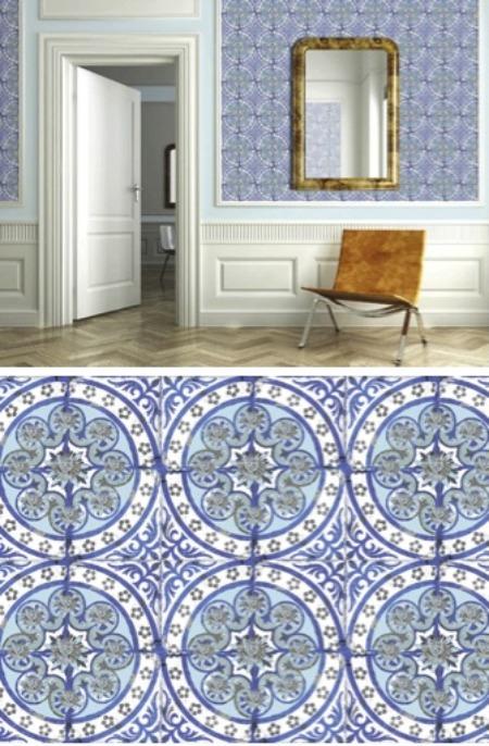 Halcyon style mediterranean moroccan moorish for Moroccan wallpaper uk