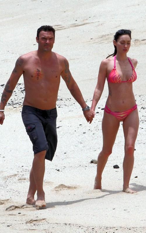 Megan Fox wearing Pink Bikini