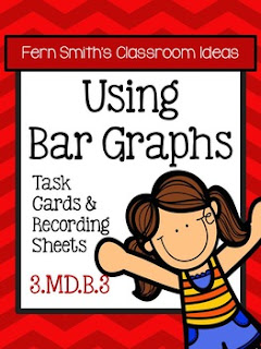 Fern Smith's Classroom Ideas Using Bar Graphs Task Cards, Recording Sheets and Answer Keys at TeacherspayTeachers.