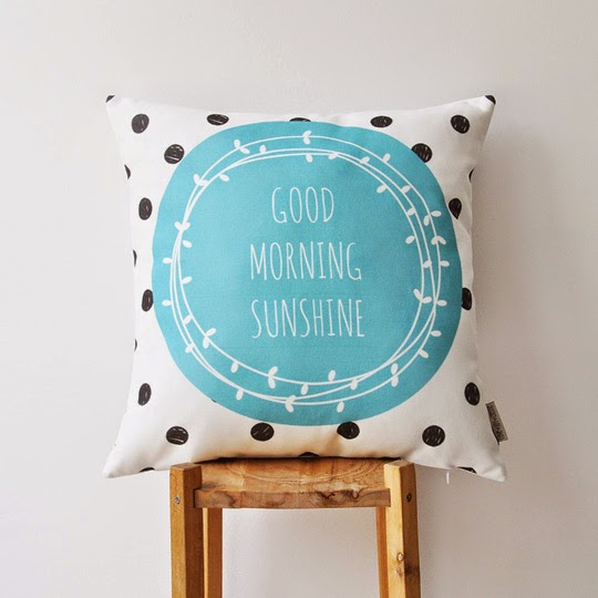 Good morning sunshine printed pillow