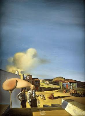 El arpa invisible, fina y mediana de Dalí