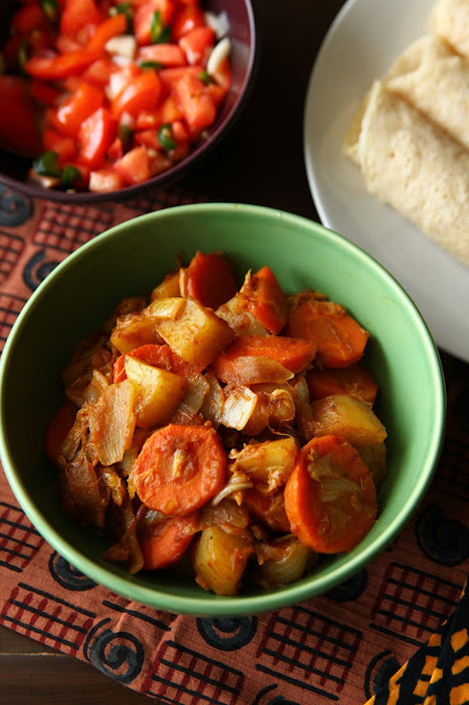Atakilt wat (Ethiopian carrot, potato & cabbage)