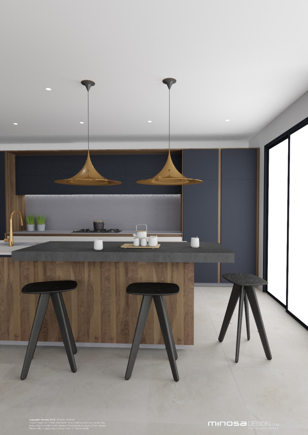 ... Fav Kitchen Design Concept At The Moment, It Is Masculine, Rich And  Very Elegant. The Use Of Walnut Timber, White Solid Surface, Stainless  Steel, ...