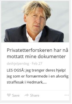 ETTERFORSKEREN HAR MOTTATT DOKM