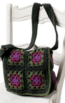 Granny Square Bag Pattern Free : Lana y ganchillo: Ideas con Grannys