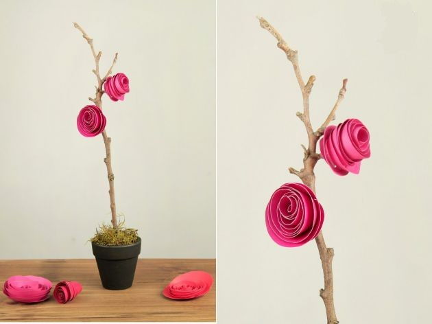 Rosas de papel manualidades para decorar un mundo de for Rosas de papel