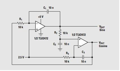 Lm324 Sine Wave Oscillator on lm324 op amp circuits
