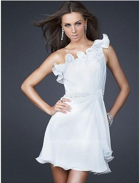little white prom dress