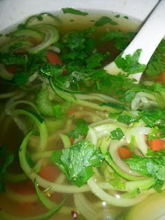 Vegan Zucchini Noodle Soup Recipe