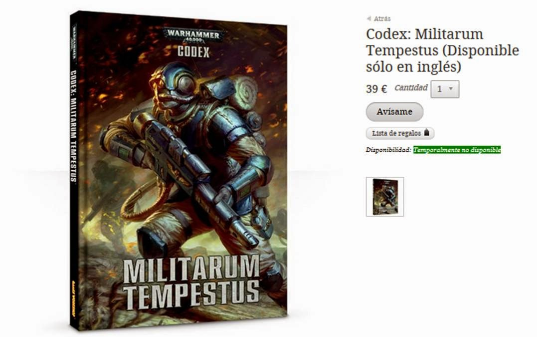 Militarum Tempestus no disponible