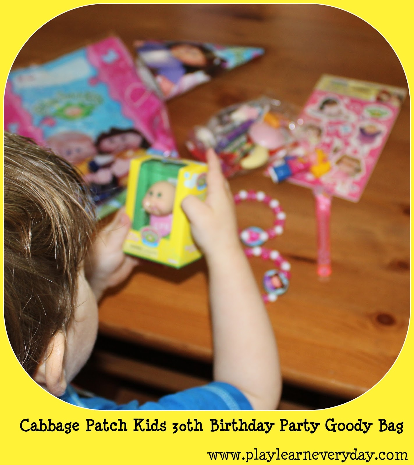 Cabbage Patch Kids 30th Birthday Party Goody Bag