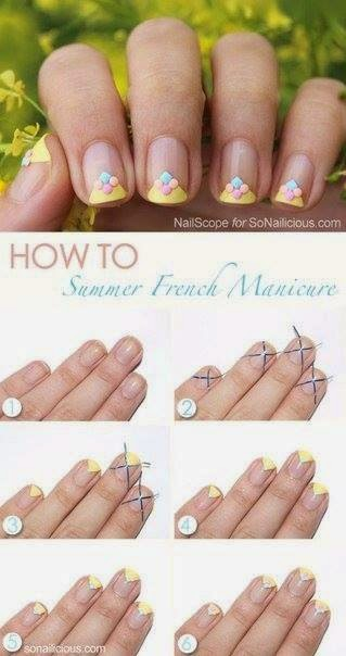 Nails Art Step By Step Tutorial #21