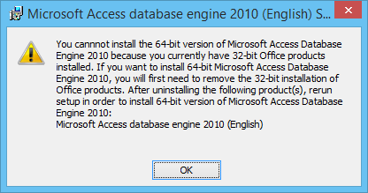 microsoft access 64 bit runtime