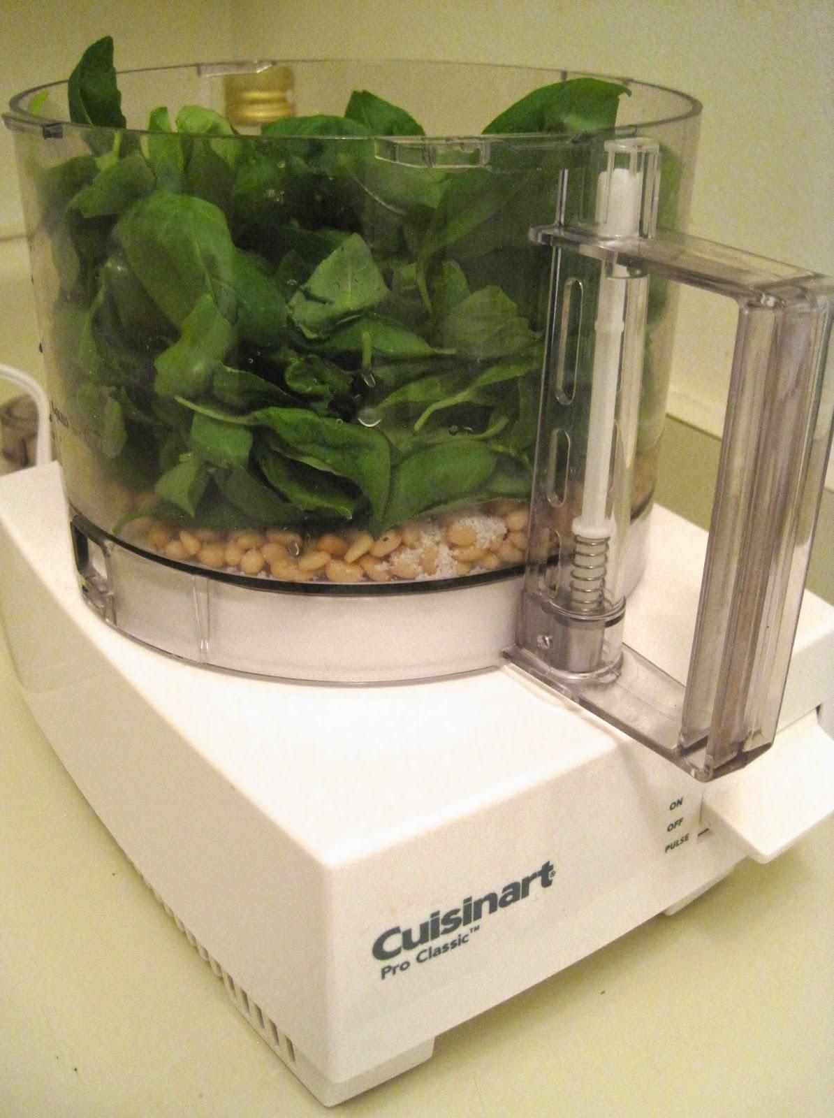 Making Pesto in Food Processor - Vegan Blog Veega