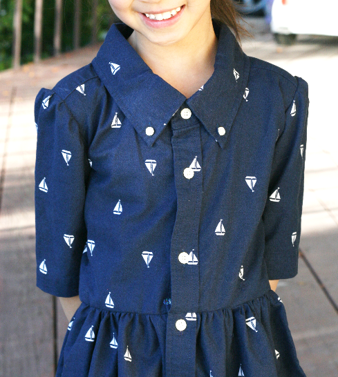 Men's XL shirt into a girl's dress DIY