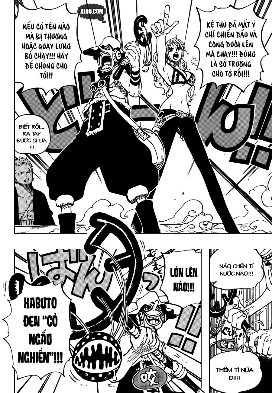 One Piece Chapter 695: Để đó cho tớ! 010