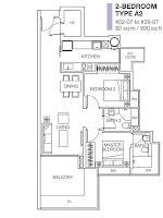 Cityscape 2RM Floor Plans