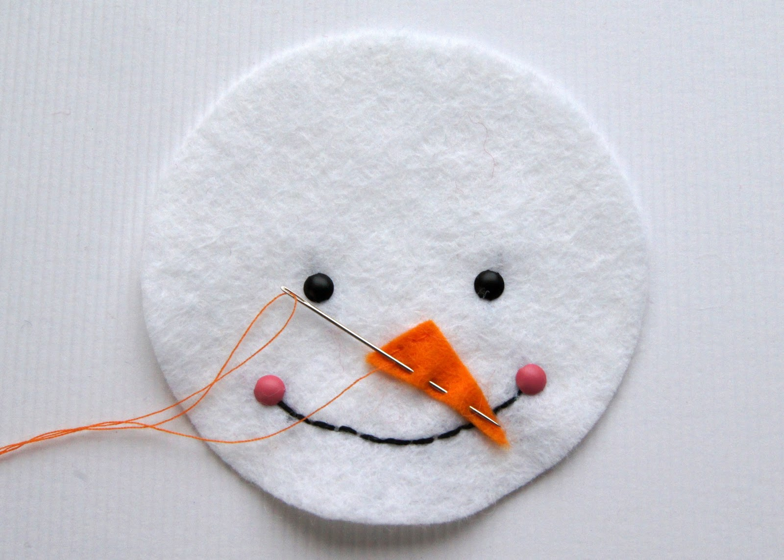 Snowman Nose Pattern The snowman's nose using a