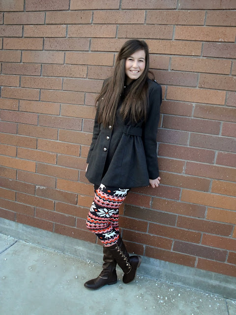 cold weather, winter essentials, leggings, fleece leggings, our world boutique, ourworldboutique, christmas, debshops, make me chic, boots, tall boots, military chic, military jacket,