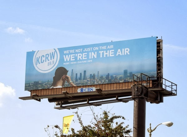 KCRW in the air radio billboard