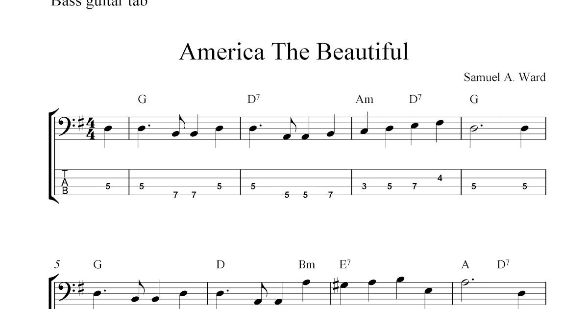 America The Beautiful Guitar Chords