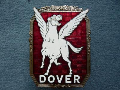 HUDSON DOVER radiator emblem badge vintage 1929 1930 1931