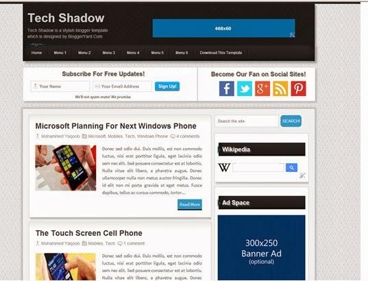 Tech Shadow Premium blogger template free download | Free Premium ...
