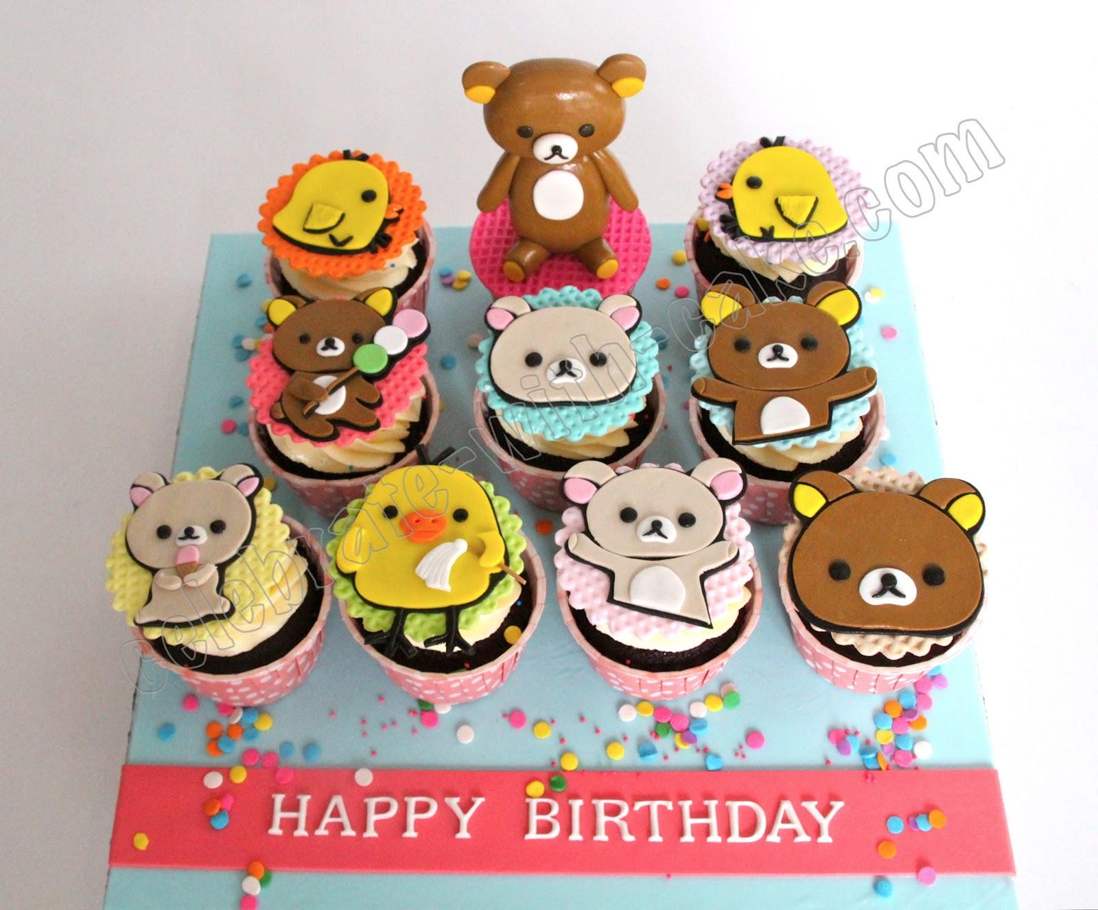 Celebrate With Cake Rilakkuma Cupakes