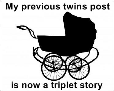 triplets pram clip art