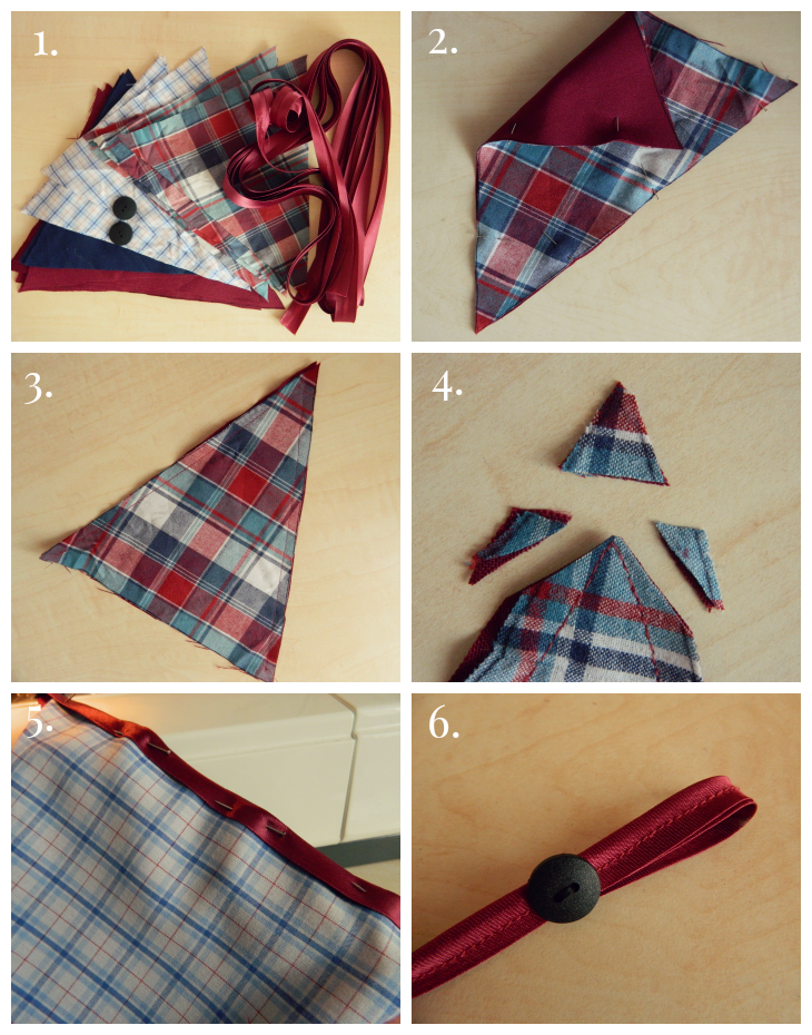 Easy Vintage Homemade Bunting Step by Step