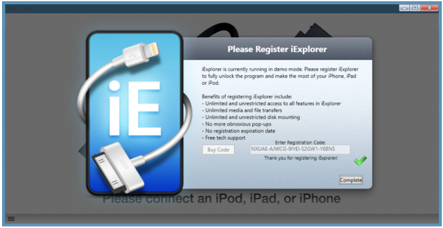 iExplorer 3.6.9.0 Full Serial Keys