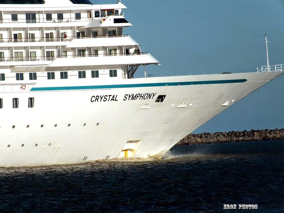 Navio de Cruzeiro Crystal Symphony em Rio Grande