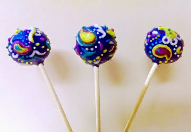 Paisley Decorated Cake Pops