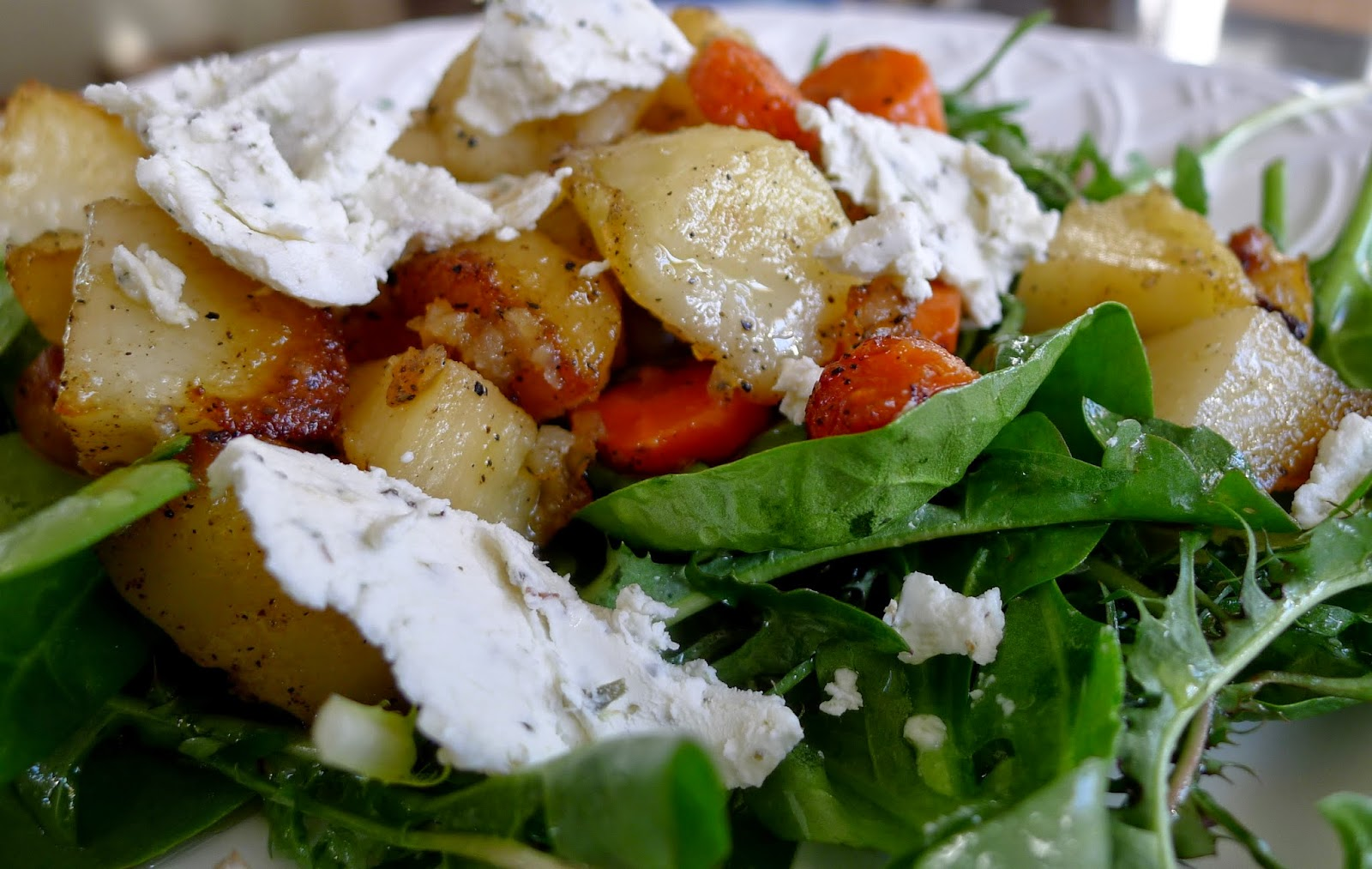 baked goat cheese with spring vegetables recipes dishmaps baked goat ...