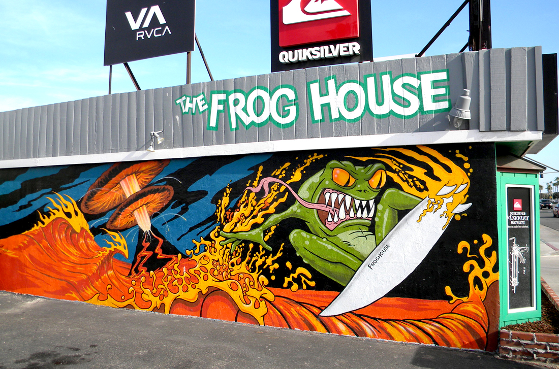 Frog House Newport Beach Part - 22: Hand Painted: Frog House Surf Shop Mural, Newport Beach, CA Detail Shots Of  Work In Progress