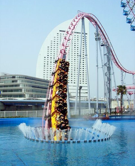 """Vanishing"" Underwater Roller Coaster in Japan"