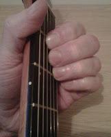 A Major guitar chord