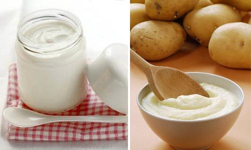 Cách trị mụn cám ở mũi đơn giản từ sữa chua và khoai tây