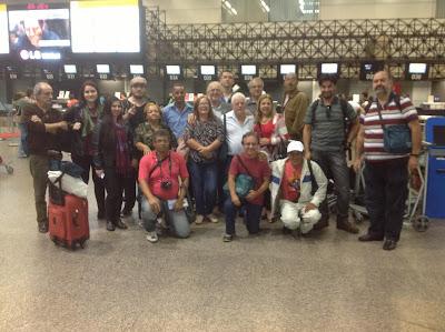 Integrantes da 2ª Missão de Solidariedade ao Povo Palestino