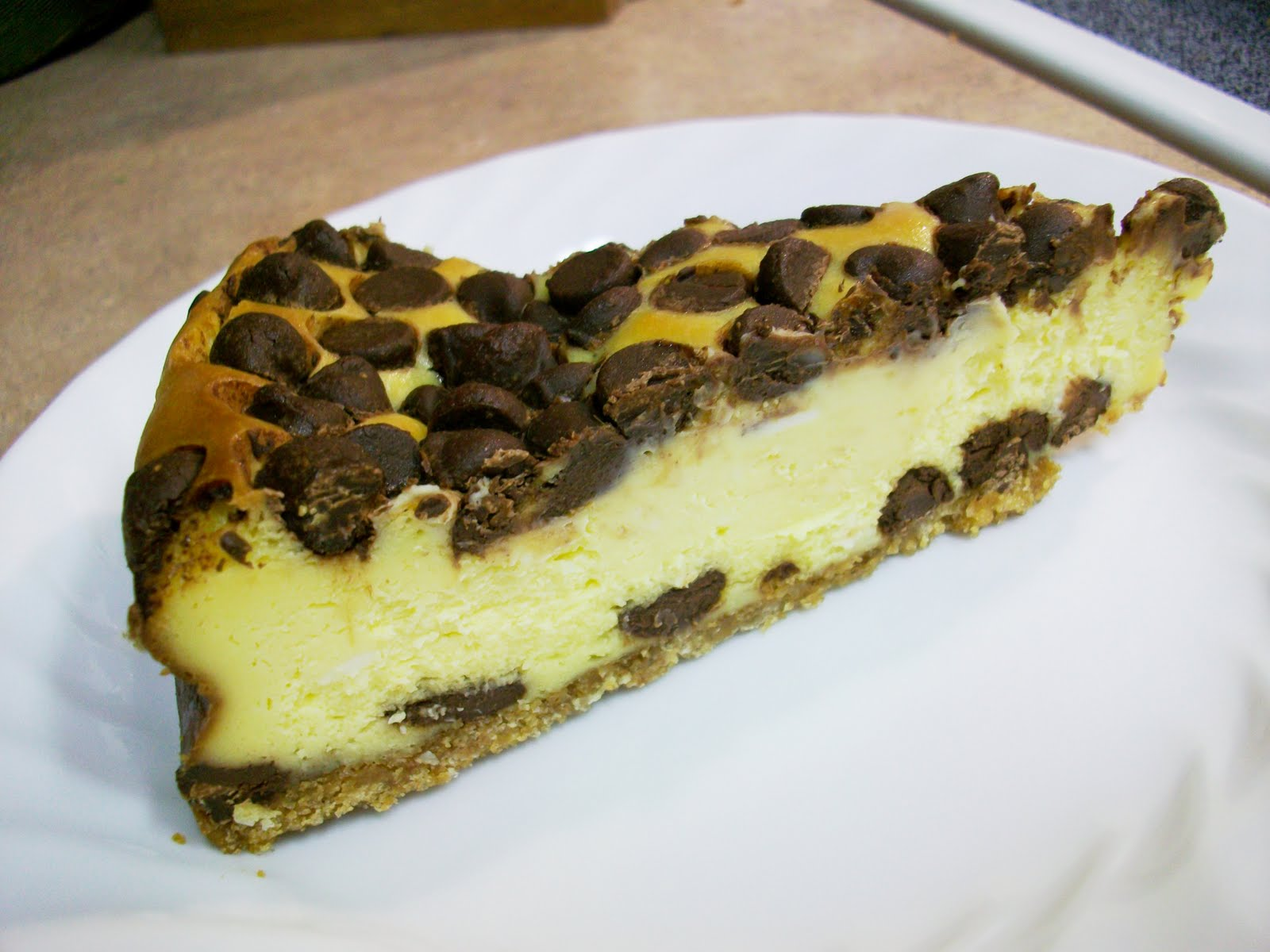 At Home With Haley: Chocolate Chip Cheesecake