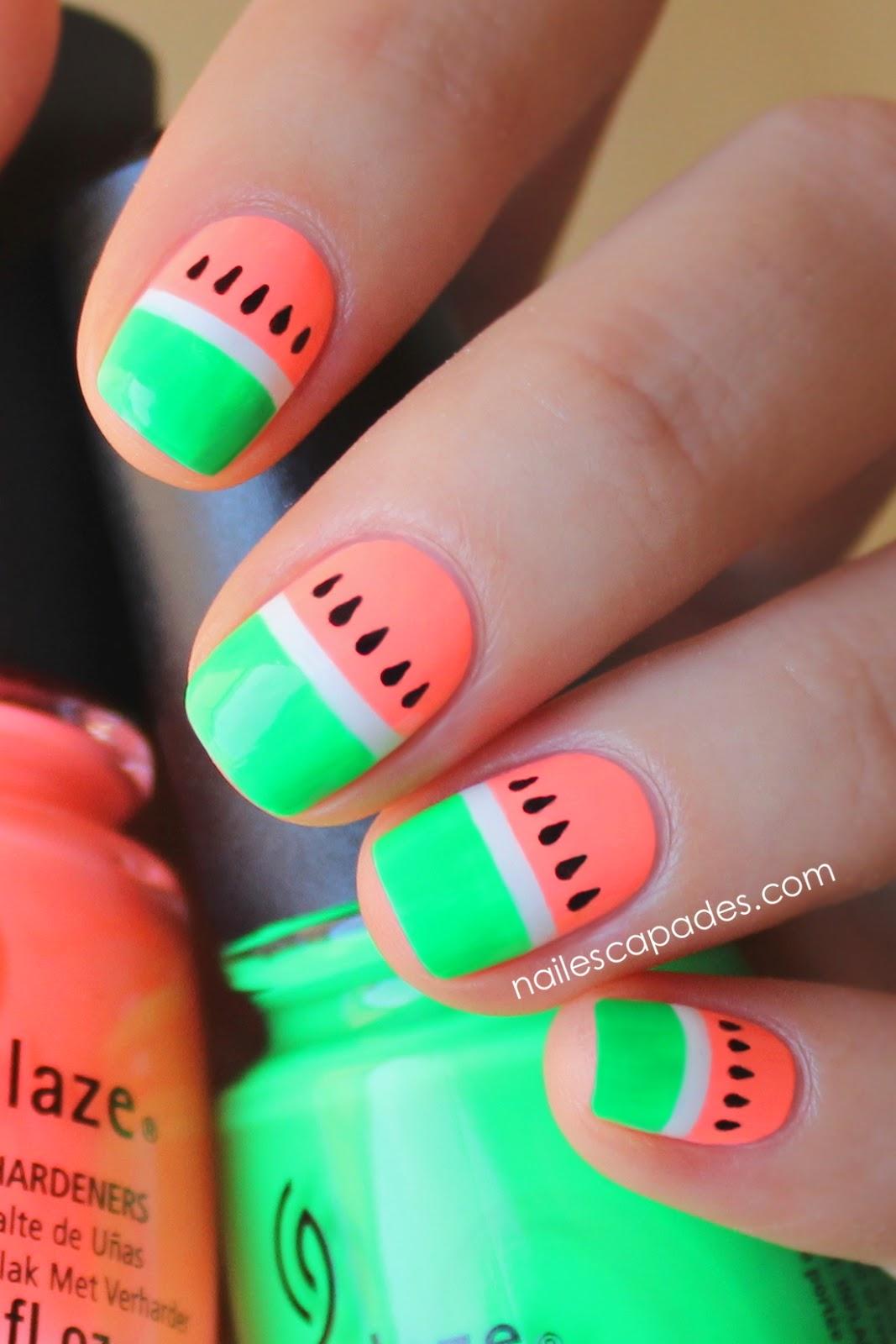 ongles pastèque