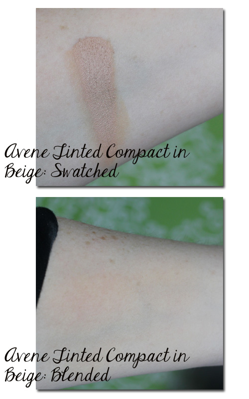 Avene Tinted Compact in Beige Swatched